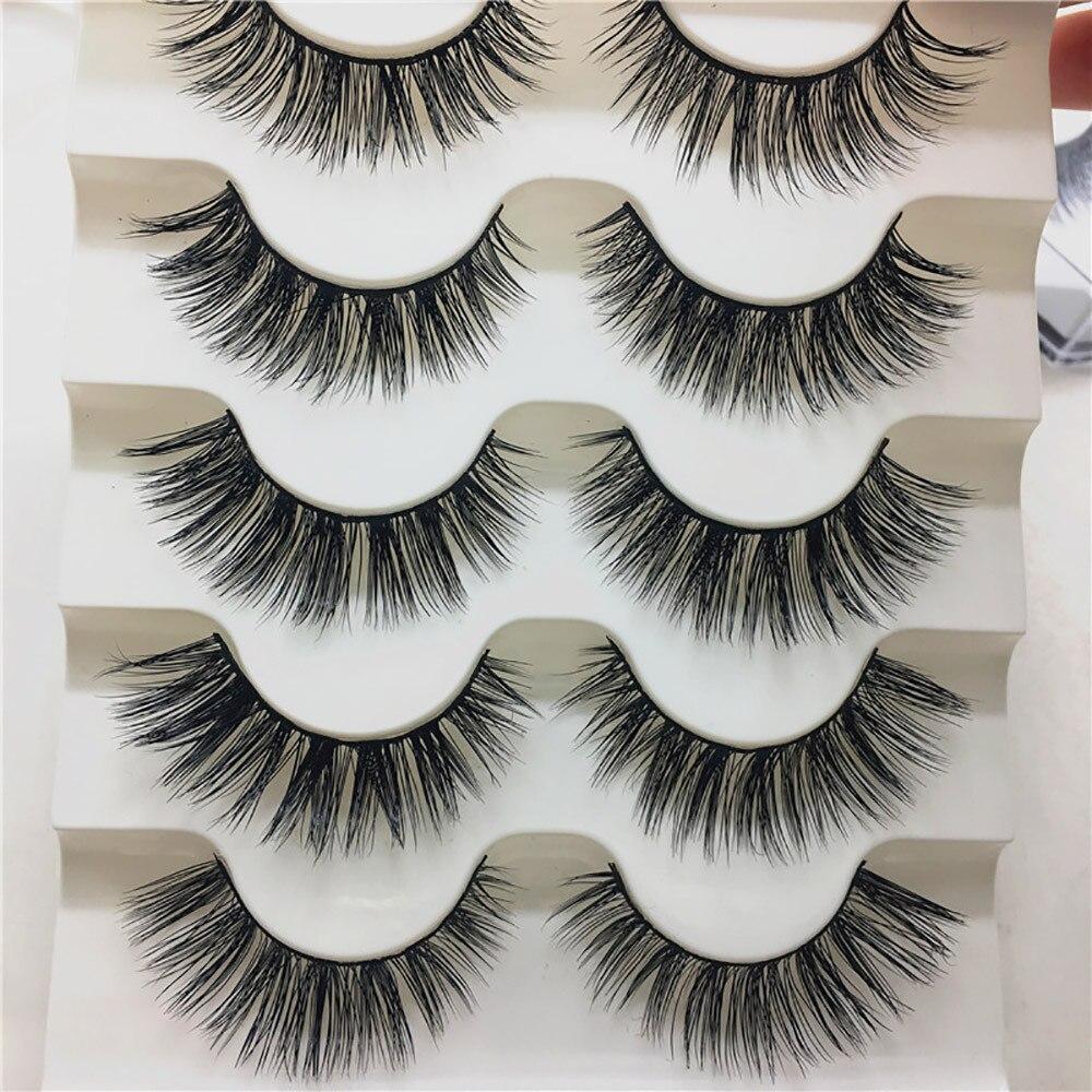 Beauty & Health Sincere 1 Box Luxury 3d False Lashes Fluffy Strip Eyelashes Long Natural Party Maquiagem Profissional Vendors Completa Permanente De False Eyelashes