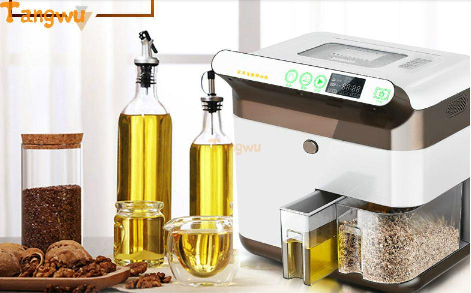 Free shipping Oil press household automatic small commercial intelligent multifunctional cold press machine Oil Pressers brand new home cold press small oil screw press machine nut
