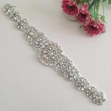 ShiDianYi серебряные стразы аппликация пояс невесты кристалл жемчуг ленты свадебная одежда подружки невесты платья 10PCS-RA007-Y514