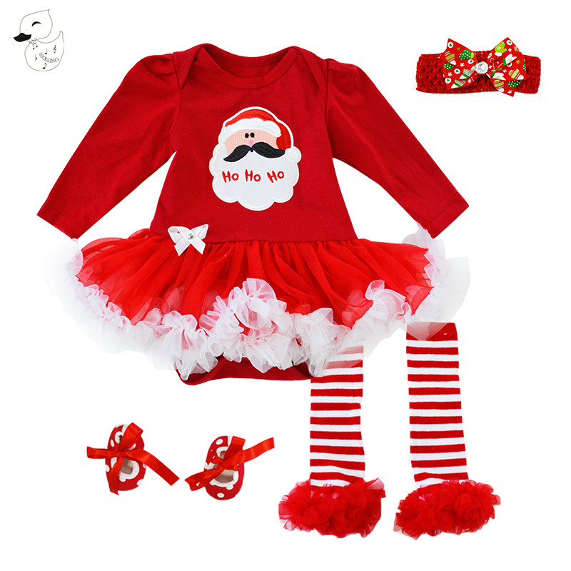 BINIDUCKLING Christmas Baby Swing Top Baby Girls Clothing Set Infant Ruffle Outfits Bloomer Headband Newborn Girl Clothes Sets girls ruffle trim top and overalls set with headband