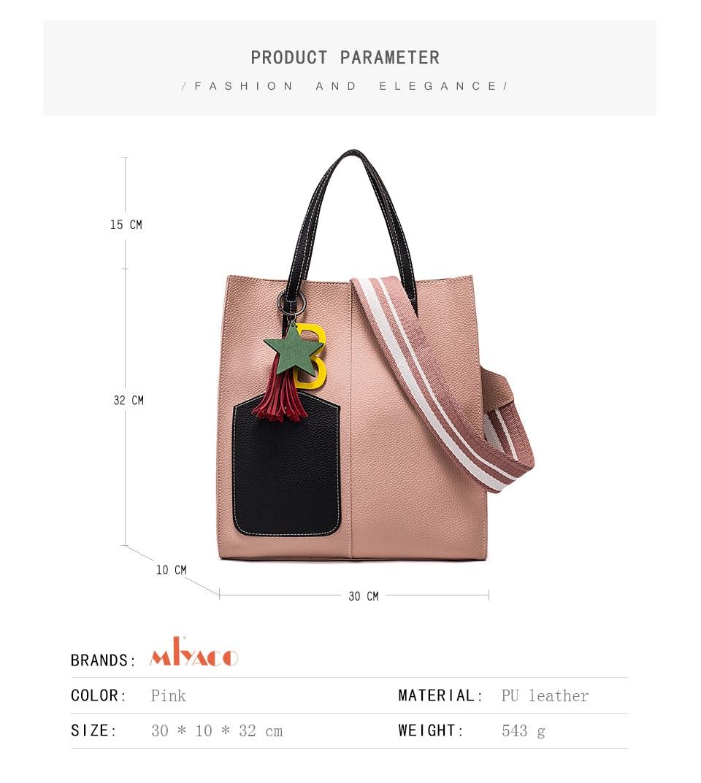 df0ee3e461c7 MIYACO Leather Handbags Women Bag High Quality Casual Female Bags Trunk Tote  Spanish Brand Shoulder Bag Ladies Large Bolsos