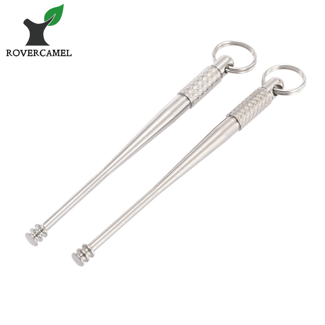 Rover Camel Titanium Ti Ear Cleaner Earpick Curette Earwax Remover Curette  EDC Best Price 2pcs/lot-in Outdoor Tools from Sports & Entertainment on