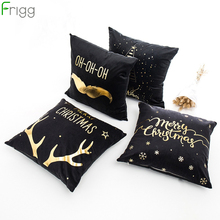 Frigg Christmas Pillow Case Home Decor Merry Cushion Cover Decorative Sofa Pillowcase Santa Xmas Bed Car Back