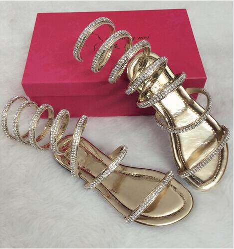 Plat rose Net Romaines Bottes 46 Plus Sandales Size34 black Femmes Sandale Silver D'été Gladiateur Ipccm Chaussures Gold Sexy black Serpent Cristal gold vnONw8m0