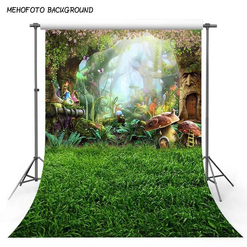 خلفيات للتصوير الفوتوغرافي من نسيج فني 5X7ft خرافة تشبه أحلام وطبيعة الغابات خلفية من الفينيل صور خلفية للتصوير بالاستوديو