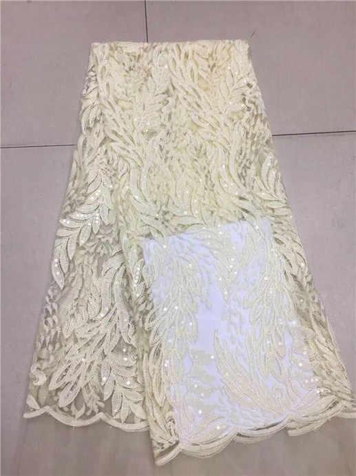 Ultime Africano Francese Tessuto di Pizzo Con Paillettes rosa Per Cucire Abito Da Sposa 2019 di Alta Qualità del Organza di Tulle Tessuto di Pizzo bianco