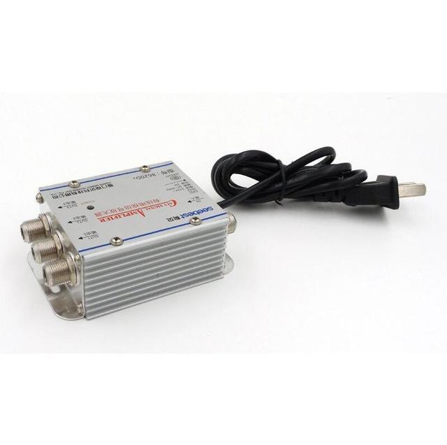 AC 220 В ЕС 3 полосный CA ТВ кабель усилитель тв сигнала усилитель антенны Набор сплиттеров широкополосного домашнего ТВ оборудования