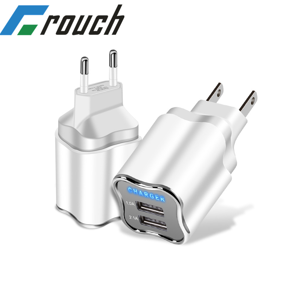 USB Charger EU/US Plug 5V 2.1A Prise usb wall charger usb lader For Iphone X XS MAX XR Huawei P30 Samsung S10 android chargers