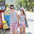 Nuevos Amantes de la Playa Pantalones Cortos Parejas Moda Flor Imprimir Pantalones Cortos Junta Masculinos Pantalones Cortos Flojos Ocasionales Pant Para Mujeres Hombres B1