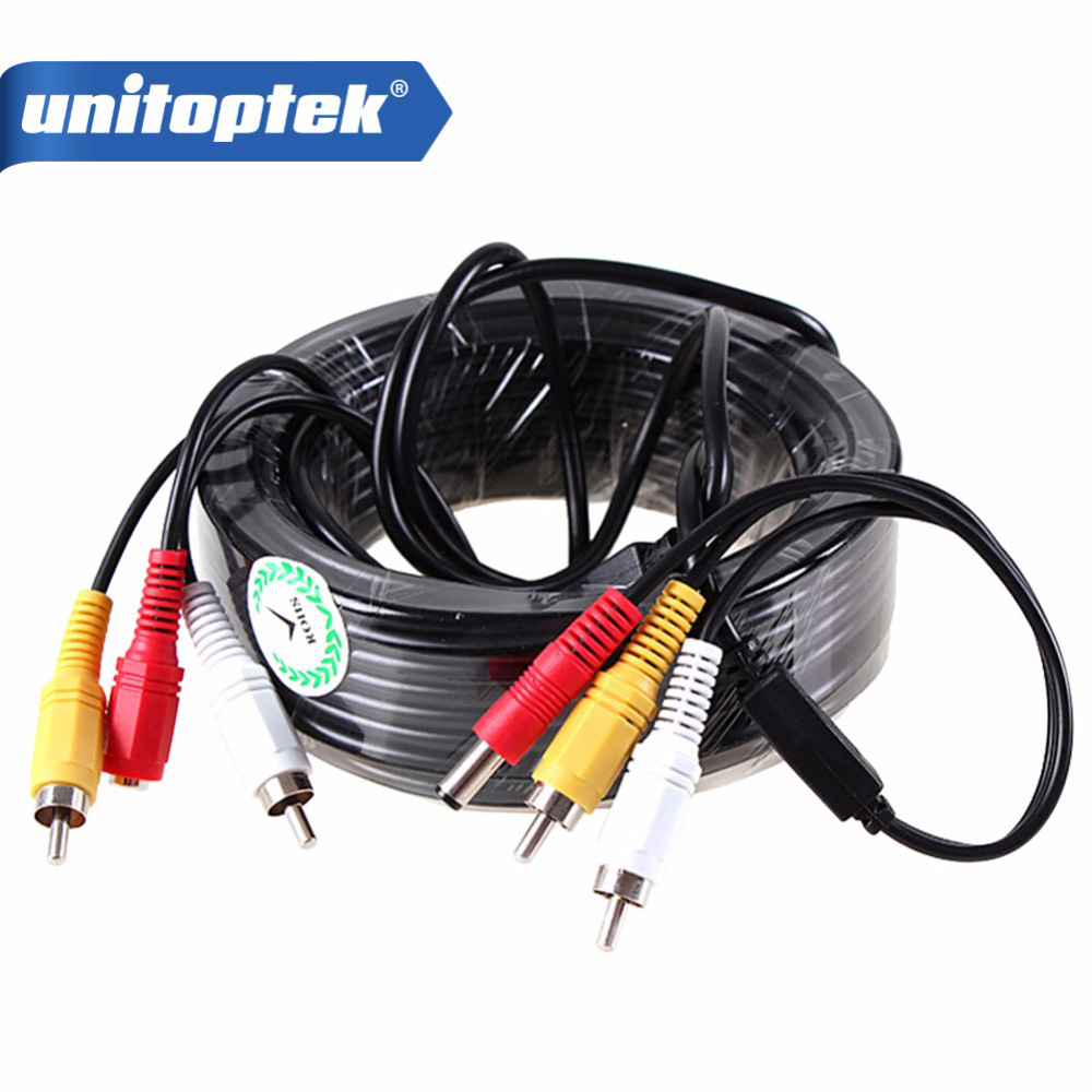 5M / 10M / 15M / 20M Security CCTV Cable RCA CCTV Camera Video Audio AV Power Cable For Surveillance Camera DVR System