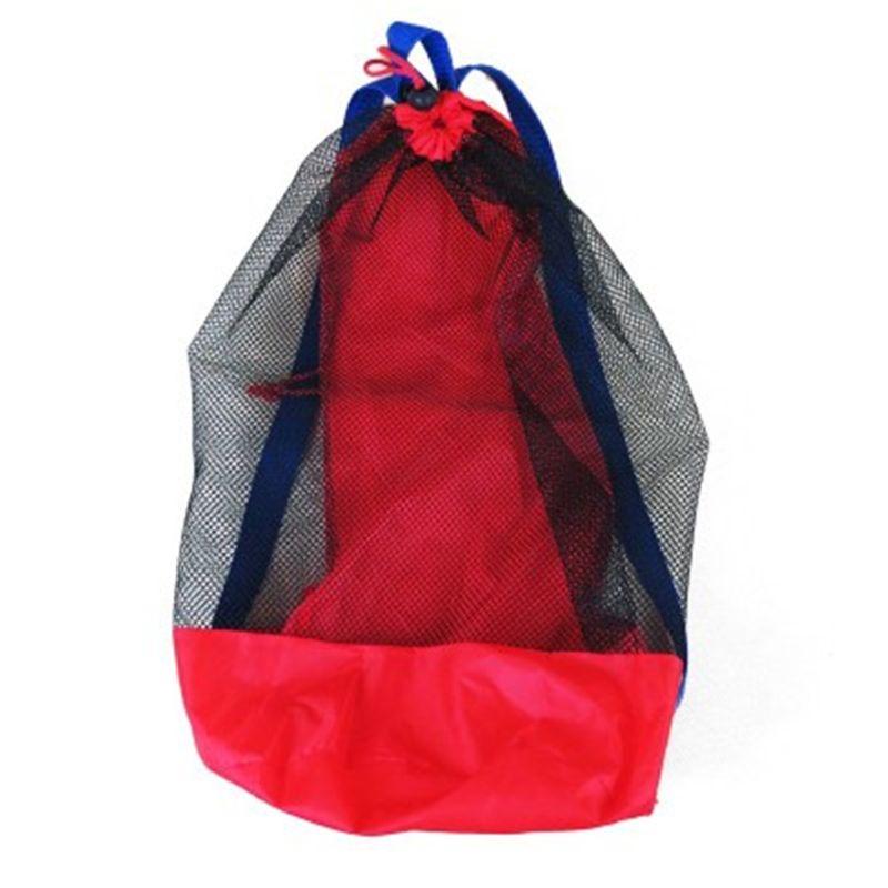2pcs Toy Storage Mesh Bag For Kids Beach Sand Toys Water Fun Sports Bathroom