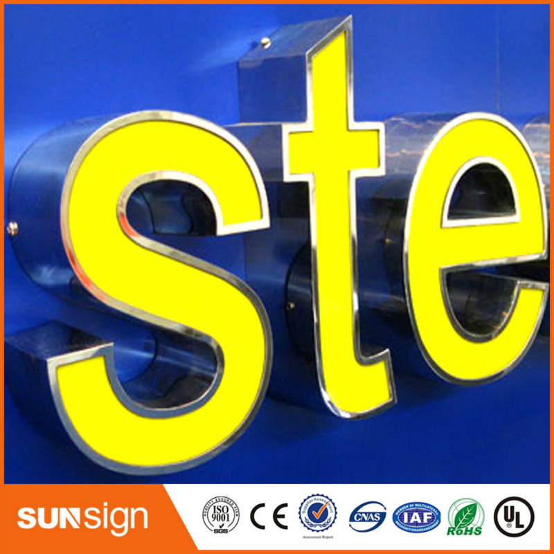 Custom LED Letters Sign For Famous Brand Names Logos