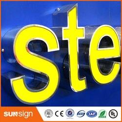 LED personalizzati lettere segno per la marca famosa nomi logos