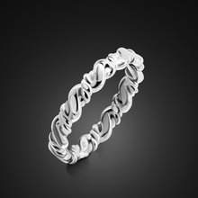 Hot Sale 100% 925 Sterling Silver Simple Styles Stackable Party Finger Ring For Women Original Fine Jewelry Gift wholesale boosbiy 2019 hot sale 52 styles stackable party finger ring for women original brand heart crown ring engagement jewelry