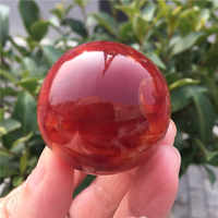 1Pcs Natural Red Agate Gemstone Crystal Ball Healing Sphere Feishui Stone Meditation Chakra Carnelian Stone Home Decoration