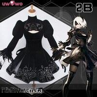 IN STOCK NieR Automata 2B YoRHa No 2 Type B Black Dress Cosplay Uwowo Costume