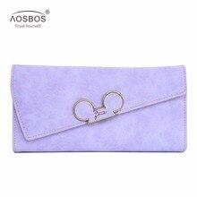 Aosbos Fashion Hot Hit Color Scrubs Women Wallet Ladies Long
