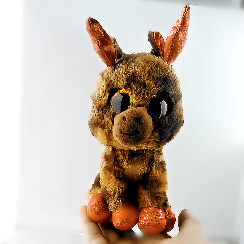 Ty Beanie Боос большие Средства ухода для век коричневый Wapiti плюшевые игрушки куклы 6 15 см TY для маленьких детей со дня рождения подарок s103