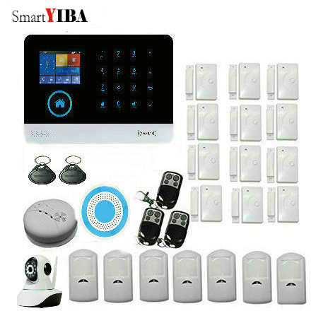 SmartYIBA WiFi 3G GPRS Alarm System Sensor kit For Home Security With Video Camera Surveillance Motion Alarm Fire/Smoke Sensor bw wifi camera ip doors sensor infrared motion sensor smoke detector alarm security camera wireless video surveillance bw14