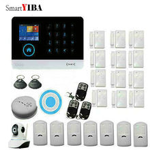 SmartYIBA WiFi 3G GPRS Alarm System Sensor kit For Home Security With Video Camera Surveillance Motion Alarm Fire/Smoke Sensor
