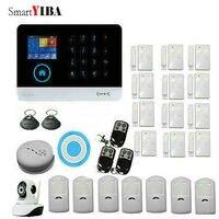 Smartyiba Wi Fi 3G gprs сигнализация Системы Сенсор комплект для дома безопасности с видео Камера наблюдения движения пожарной сигнализации/дым сенс
