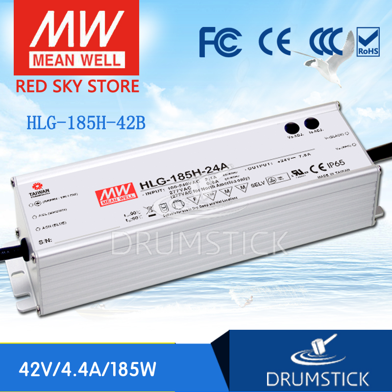 MEAN WELL HLG-185H-42B 42V 4.4A meanwell HLG-185H 42V 184.8W Single Output LED Driver Power Supply B type [nc b] mean well original hlg 120h 54a 54v 2 3a meanwell hlg 120h 54v 124 2w single output led driver power supply a type