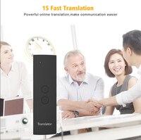 Neue Tragbare Smart Stimme Übersetzer 1 Sekunde Schnelle Genaue Übersetzung Lange Standby Für Treffen Studie Reise Kommunikation