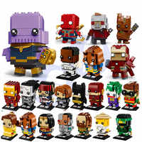 Novo brickheadz marvels avenger super heróis batman homem de ferro spiderman bloco de construção tijolos brinquedos compatíveis com brickheadz brinquedos