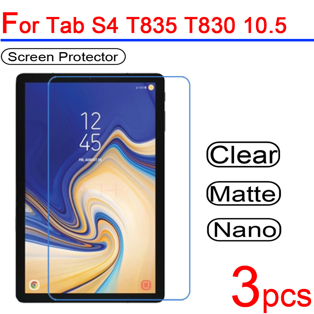 3pcs Ultra Clear Soft LCD Screen Protector Guard Cover for Samsung Galaxy Tab S4