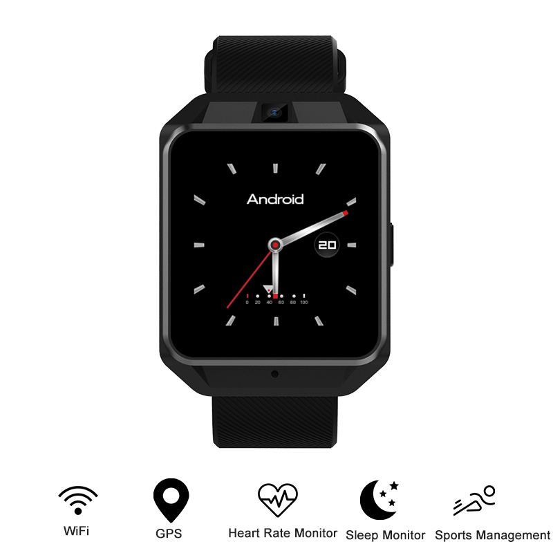 Microwear H5 4G Smartwatch Phone 1.54 inch MTK6737 Quad Core 1G RAM 8G ROM GPS WiFi Heart Rate / Sleep Monitor Video Call