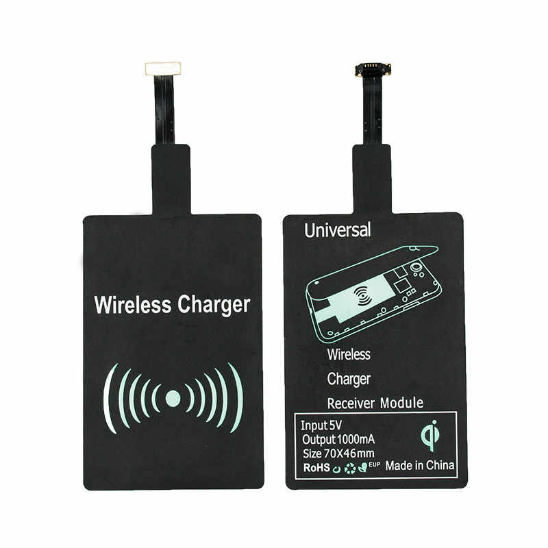 Universal Qi Wireless Charger Receiver Charging Adapter for Samsung Note 3 4 S4 S5 S3 Xiaomi Roidmi Sony Android Micro USB Phone