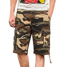 LAAMEI Camouflage Cargo Shorts Summer Men s Baggy Shorts Mens Multi Pocket Military Shorts Zipper Cargo