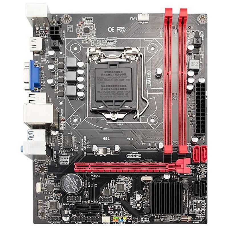 PPYY new-h81 ordinateur de bureau carte mère Socket Lga 1150 broches I3 I5 3470 4590 Cpu Super B85 micro-atx Uefi Bios - 3