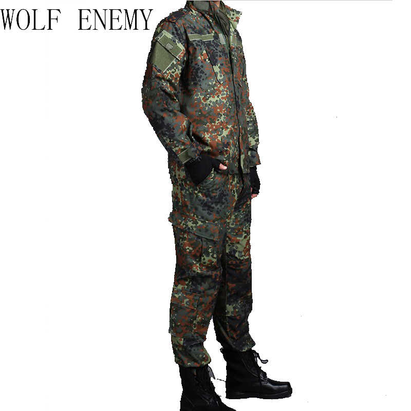ALEMÃO WOODLAND CAMO Suit ACU BDU Militar DO EXÉRCITO Uniforme de Camuflagem Terno define CS Combate Tático Paintball Jacket & Pants