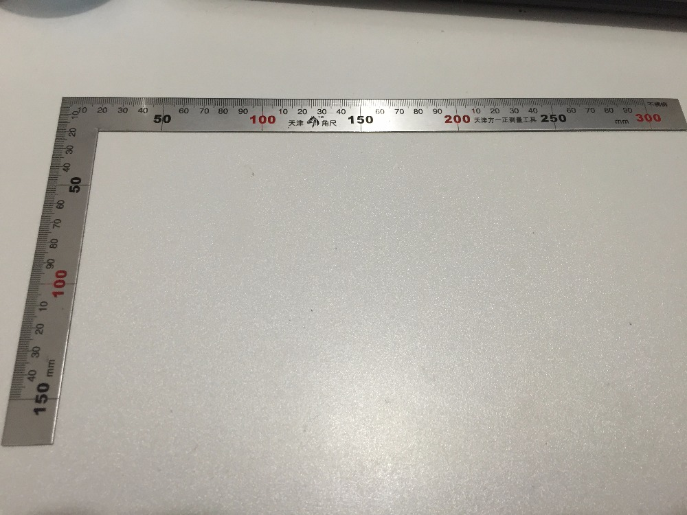High Quality 0-300mm 0-150mm Angle Ruler L-Square Stainless Steel Shape Ruler Metal Square Measure Tool Ideal For Engineers sosw 150 x 300mm stainless steel metric try square ruler