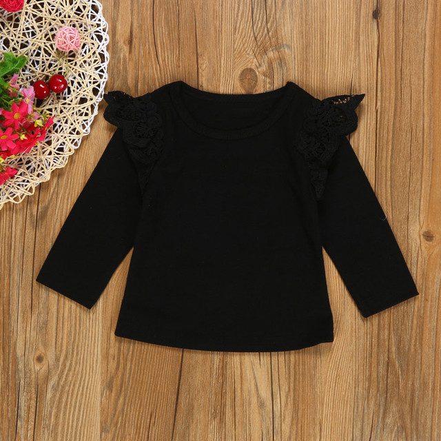 Baby Girl's Lace Long Sleeve Blouses
