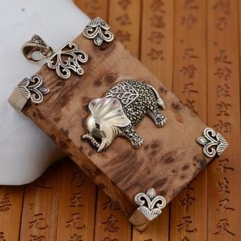 S925 marcasite silver inlaid antique craft female Pendant