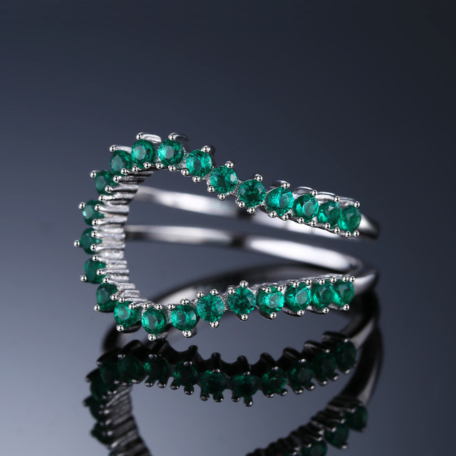 Emerald Adjustable Ring