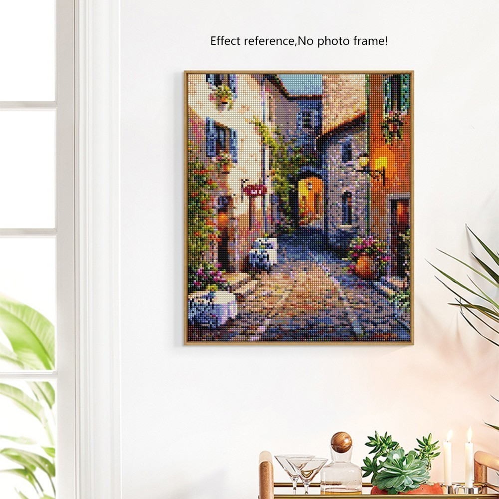Diamond Painting City Diamond Embroidery Scenic Street Cross Stitch Kits Crafts Rhinestones Diamond Mosaic Landscape Home Decor in Diamond Painting Cross Stitch from Home Garden