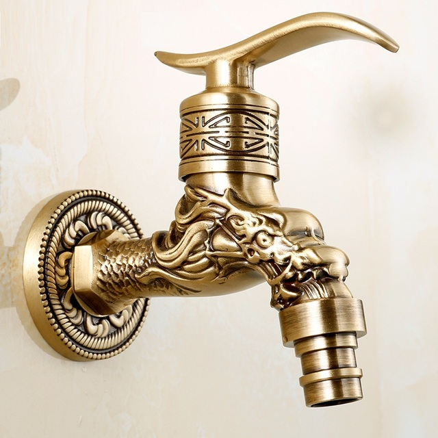 Aliexpress.com : Buy Antique Bronze Dragon Carved Water Tap Animal ...