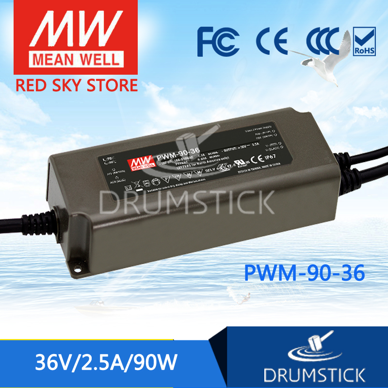 MEAN WELL PWM-90-36 36V 2.5A meanwell PWM-90 36V 90W Single Output LED Power Supply mean well owa 90e 36 36v 2 5a meanwell owa 90e 36v 90w single output moistureproof adaptor