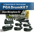 Free Shipping! Top Quality PGA DrumKit7 Seven Piece Dynamic Wired Microphone kit For Drum, PGA52 x 1,  PGA56 x 4,  PGA57 x 2