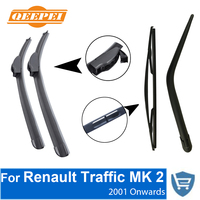 QEEPEI Front And Rear Wiper Blade Arm For Renault Traffic 2 2001 Onwards 4 Door Minivan
