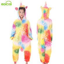32 NEW Kids Pyjamas Children Cartoon Pegasus Unicorn Pig Pajamas Set Winter Hooded Sleepwear Onesie Cute Christmas Cosplay цена в Москве и Питере