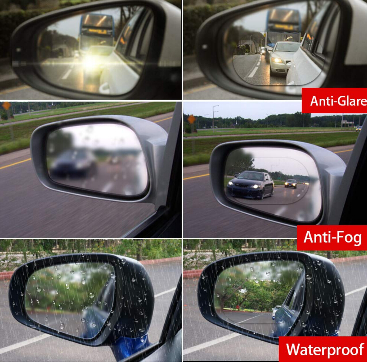 Image 5 - On Sale Car Rearview Mirror Rainproof Film Anti Fog Window Clear waterproof Rear View Mirror Nano Coating Transparent Protective-in Mirror & Covers from Automobiles & Motorcycles