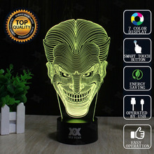 HUI YUAN Brand USB 3D Lamp Visual illusion Novelty Night Light Jack Hero Holiday Lights Glowing Children Christmas Gift