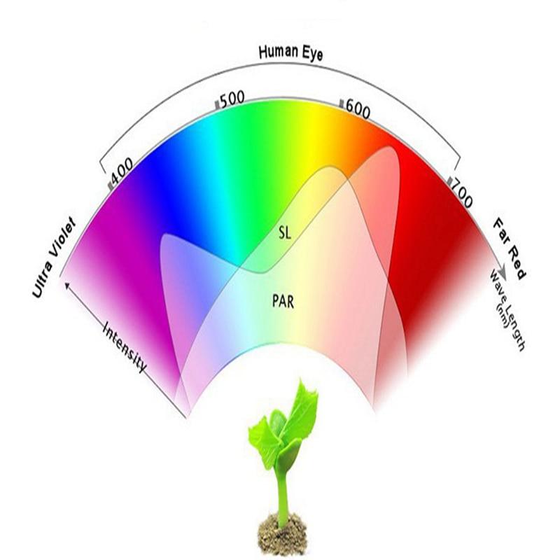 Levou Crescer Luzes de plantas Wavecomprimento : 400-840nm