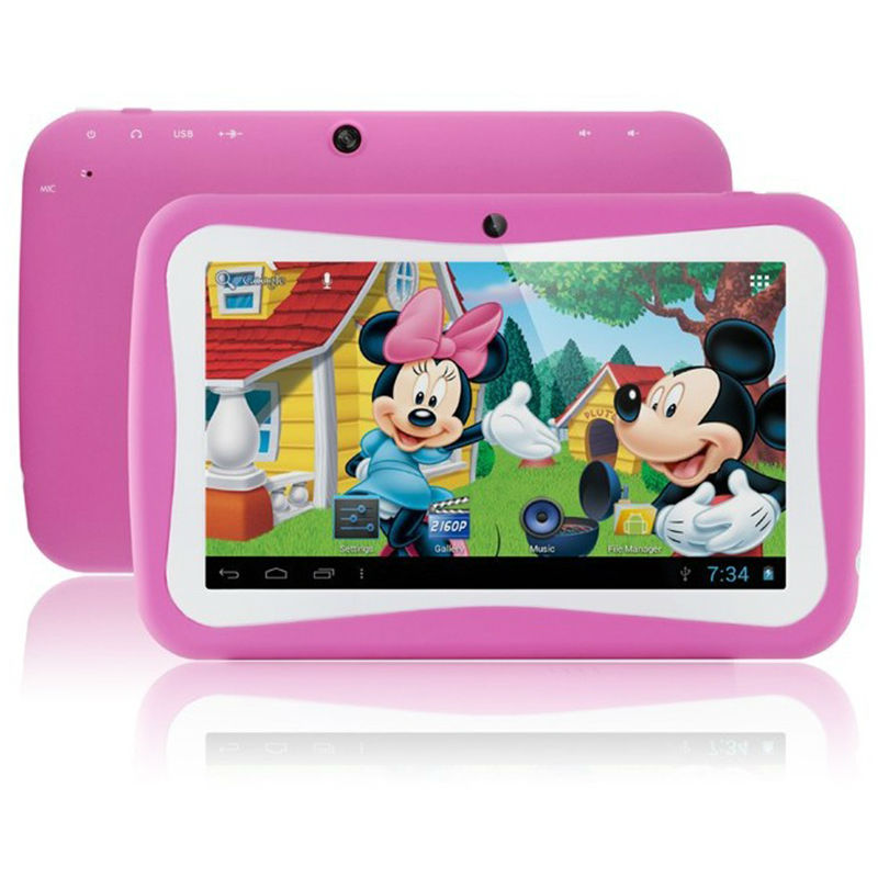 Charitable Free Shipping 7 Inch Quad Core Children Kids Tablet Pc 8gb Rk3126 Android 5.1 Mid Dual Cam & Educational Games App Xmax Gift Professional Design Computer & Office