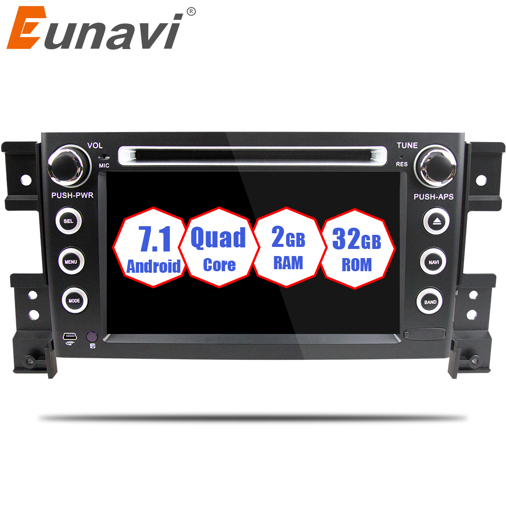 все цены на Eunavi 2 din android 7.1 car DVD player for Suzuki grand vitara car radio stereo gps with steering wheel camera DVR Map IN DASH онлайн
