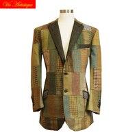 Мужская рубашка, сделанная на заказ, мужские костюмы деловые официальные свадебные на заказ, 1 шт., куртка, пальто, Великобритания, Харрис, тв